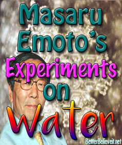 masaru emotos experiments on water show the effects of thoughts and words on water crystals