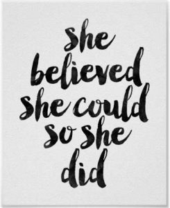 she believed poster